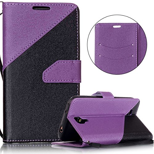kompatibel mit Galaxy S4 Hülle,Galaxy S4 Lederhülle,Handyhülle Galaxy S4 Tasche Leder Flip Case Brieftasche Etui Schutzhülle Flip Hülle Handytasche für Galaxy S4,Lila