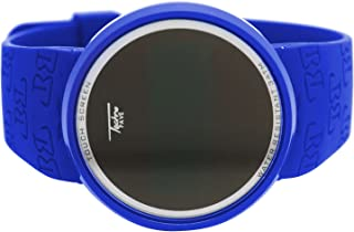 Techno Pave Blue Bezel Digital Touch Screen Sports Smart Watch with Blue Silicone Band