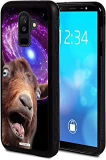 Galaxy J2 Core, AIRWEE Slim Shockproof Hard PC Soft Silicone Protective Cover Case for Samsung Galaxy J2 core 2018,Funny Space Goat Meme