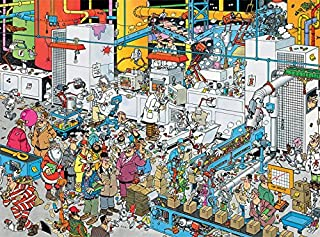 Ceaco Crowd Pleasers Collection by Jan Van Haasteren Candy Factory Puzzle (1000 Piece)