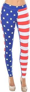 USA American Flag Leggings - Women's Patriotic Stretch Pants