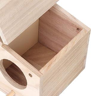 Maison d'oiseau, nid d'oiseau durable en bois pour animaux de compagnie Maison d'élevage Accessoires pour cage à oiseaux a...