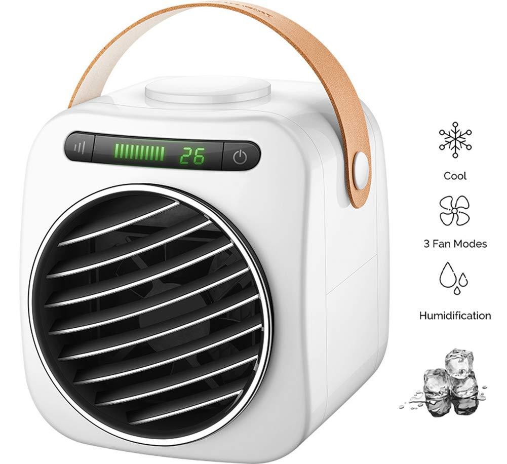 HHH Mini Aire Acondicionado Purificador Humidificador y Ventilador Mejorado 3 en 1 Lindo Aire Acondicionado Portátil con Pantalla LED para Sala de Oficina Dormitorio Air Cooler: Amazon.es: Deportes y aire libre
