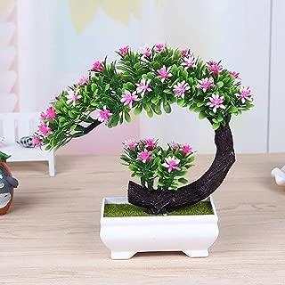 人工的な 盆栽 フラワーズ、 人工的な 花 シミュレーション 植物 デコレーション、 クリエイティブ 盆栽 木 ポット 緑 植物 鉢植え、 ホームオフィス 装飾品 バルコニー デコレーション (Color : Pink)