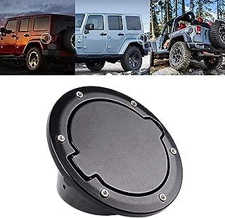 Tuhoomall Fuel Filler Door Cover Gas Tank Cap for 2007-2017 Jeep Wrangler JK & Unlimited 4-Door 2-Door Cover Accessories Jeep Gas Cap Cover