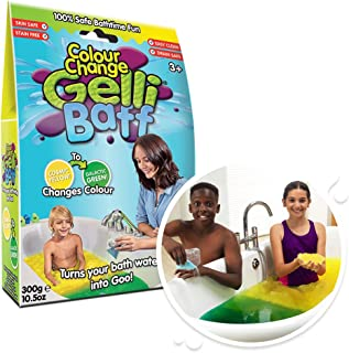 Colour Change Gelli Baff Yellow to Green from Zimpli Kids, Turns Water into Thick, Colourful goo, Early Years Educational ...