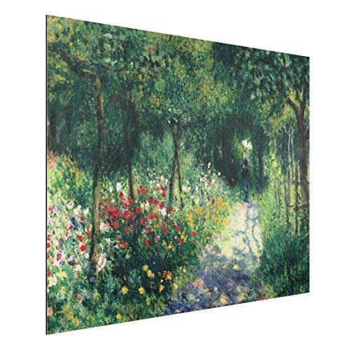 Bilderwelten Alu-Dibond gebürstet - Kunstdruck Auguste Renoir - Frauen im Garten - Impressionismus Quer 3:4, Aluminium Print Wandbild Alu-Bild Wall Art, Größe HxB: 30cm x 40cm
