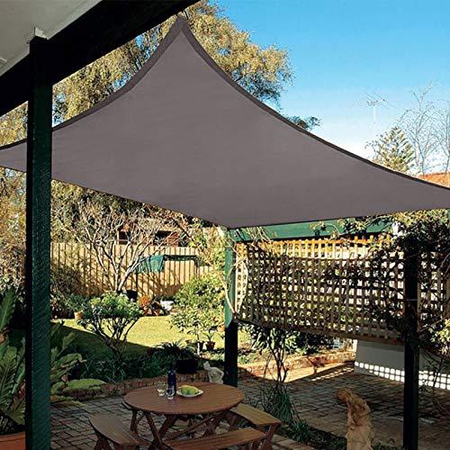 Patio Shack Voile d'ombrage Imperméable Rectangulaire 3x5m, Toile Ombrage résistant à l'eau Protection Rayons UV pour Jardin Terrasse, Gris