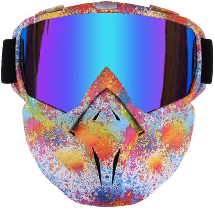 BIU Gafas De Esquí con Máscara Antiviento, Gafas Antiviento para Deportes De Nieve con Protección UV Inastillable para El Montañismo, El Ciclismo Y El Esquí