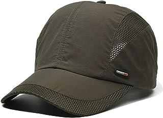 701e29466ff LAOWWO Sombrero de Gorra de Béisbol, Secado Rápido Delgado Gorra de Running  Golf Deportes Gorros