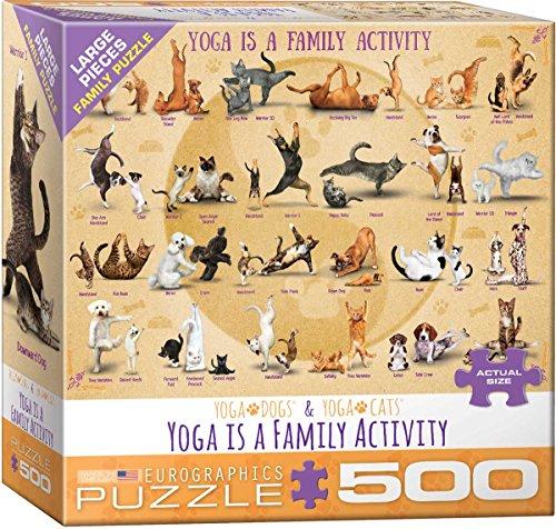 EuroGraphics- Yoga is a Family Activity 500-Piece Puzzle Pauzzle de Rompecabezas, 500 (8500-5354)