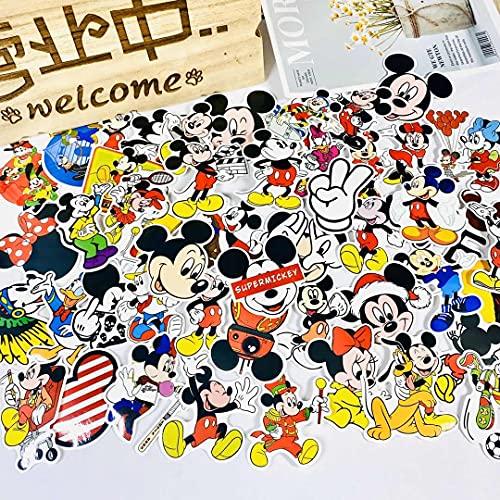 WYDML Mickey Mouse Mickey Minnie dibujos animados lindo ordenador agua taza móvil skateboard con 50 pegatinas