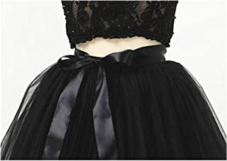 5 Layers Long Tulle Skirt Pleated Skirts Womens Vintage Petticoat