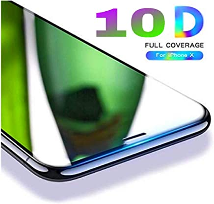 Aeidess 10D Edge to Edge Screenguard Tempered Glass for iPhone Xs/X (Black)