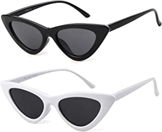 6aa6e9e8e3 ADEWU Gafas de sol ojo de gato gafas de protección para niñas mujeres,  estilo vintage