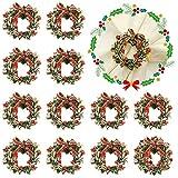 Set di 12 anelli per tovaglioli, per Natale, feste, matrimoni, banchetti, decorazione da tavola