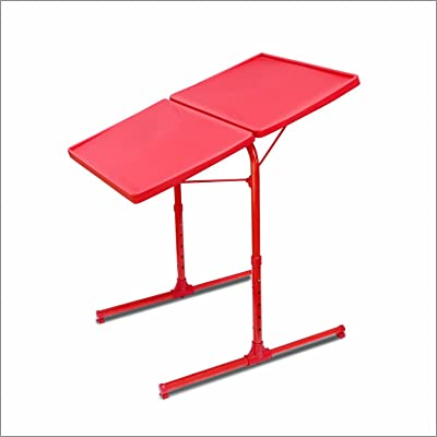 TABLE MAX Double top Table max 2.0 Red- large space for working with laptop, dining, study and all home use easy to fold 6 height 3 angles adjustable