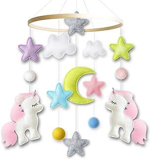 Baby Crib Mobile by Giftsfarm, Unicorn Baby Mobile for Girl Nursery Decor (2019 New Design)