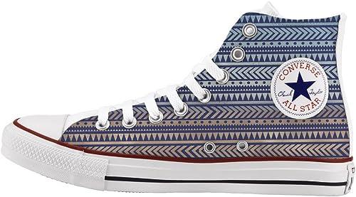 Converse Personalizados e impresos - schuhe de artesanía - Blau tribal