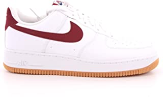 Nike Air Force 1 '07 2 Mens Sneakers CI0057-101, White/Team Red-Blue Void-Gum Med Brown, Size US 11