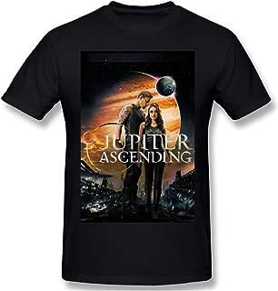 Fashion Mens Jupiter Ascending Comfortable Shirts Black with Printing Short Sleeve