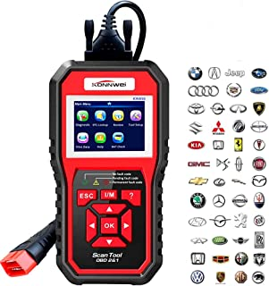 KONNWEI OBD2 Scanner Code Reader Professional OBD II Code Scanner Auto Diagnostic Check Engine Light Scan Tool for All OBD II Car After 1996 (Enhanced Version)