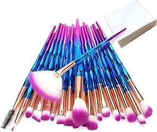 20 Pcs Makeup Brush Set Full Face Makeup Kits Set with Case for Blush Liquid Foundation Eyeshadow Eyeliner Eyebrow Lipstic...