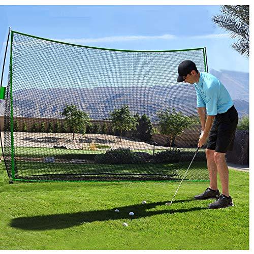 Qdreclod Rete da Golf Portatile Rete da Golf da Giardino 4 Strati di Rete Senza Nodi Rete da Allenamento da Golf con Borsa da Trasporto 3M X 2,1M (Verde 3MX2.1M)