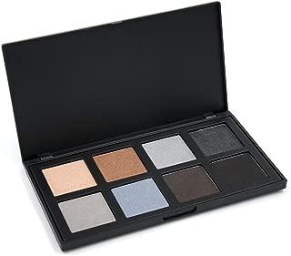 MISKOS 8 Color Smoky Highly Pigmented Eyeshadow Palette Portable Matte Shimmer Cosmetic Set Glitter Pallet Grey Earth Waterproof Eye Shadow Makeup Kit (8C)