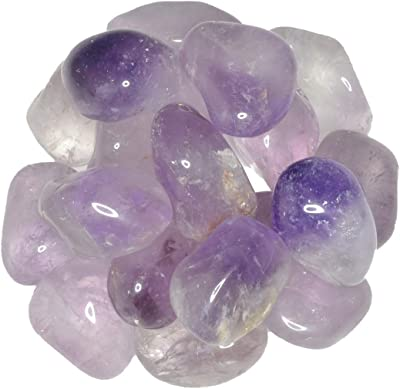 """Hypnotic Gems Materials: 1 lb Amethyst Tumbled Stones - Grade 2 - Large - 1.25"""" to 1.75"""" Avg. - Bulk Natural Rocks Polished Gemstone Supplies for Wicca, Reiki, Energy Crystal Healing"""
