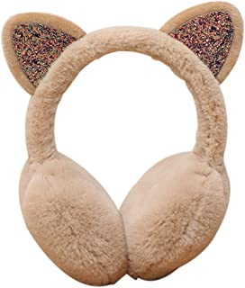 Winter Autumn Warm Earmuffs Cute Cartoon Ear Earflap Plush Earmuff Women Girls Foldable Earwarmer