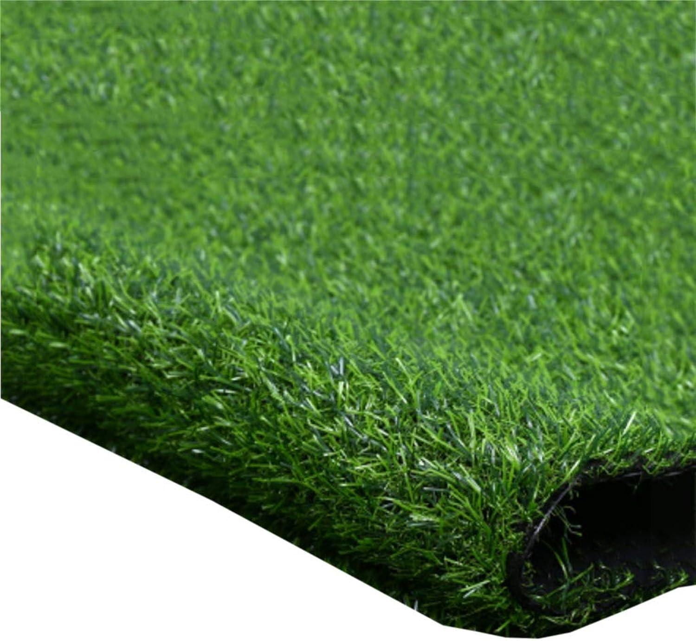 Grass Artificial Grass Pet Mat 20mm Pile High Fake Lawn Green Grass Carpet Garden Wedding Party Decoration (2x1M) (Size   2x8m)