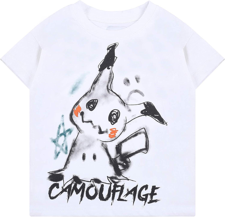 Keruimeihao666 Boys Cartoon Camouflage Shirt Kids t-Shirt Cute Printing Shirt for Boys Girls Summer Tops tee