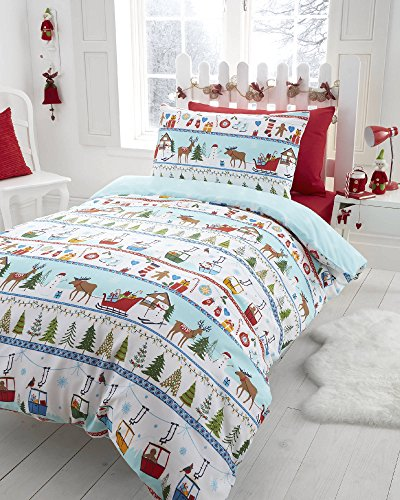 White Christmas, Festive Toddler Bedding by CHRISTMAS BEDDING