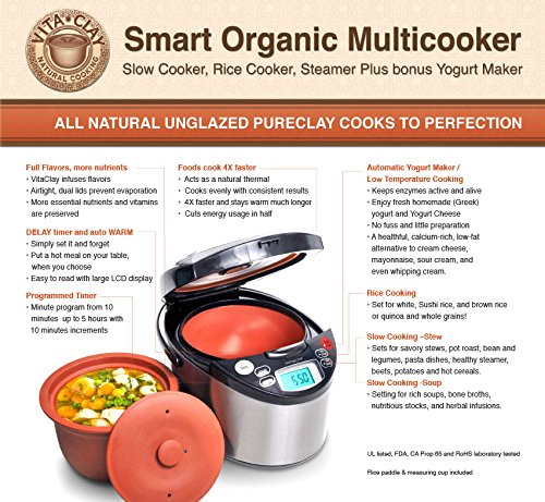 VitaClay VM7900-8 Smart Organic Multi-Cooker