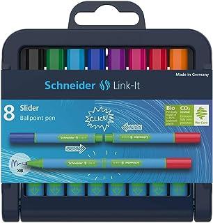 Schneider Link-It Feutres de coloriage Stylo-bille 8er Box coleurs assorties