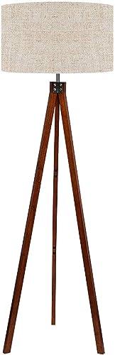 LEPOWER Wood Tripod Floor Lamp, Mid Century Standing Lamp, Modern Design Studying Light for Living Room, Bedroom, Stu...