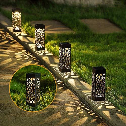 【12 Stück】VINGO Solarlampen für außen, IP55 Wasserdichte Warmweiß Solar Gartenleuchte, Gartendeko für Garten Terrasse Rasen Patio Hofwege, Dekorative Solarleuchte mit Erdspieß Kunststoff