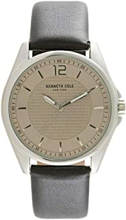 Kenneth Cole Men's Classic Watch with Black Leather Strap - 10032135