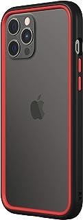 RhinoShield バンパーケース [iPhone 12 Pro Max] | CrashGuard NX - 衝撃吸収スリムデザイン保護カバー 3.5m / 11フィート 落下保護 - ブラック/レッド
