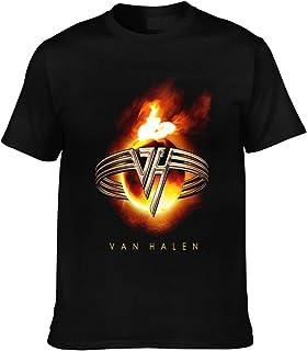 Men`s Van Halen 1984 T-Shirt Rock Guitarist Van Halen Logo T-Shirt Fashion Casual Short Sleeve Graphic Tees Shirts