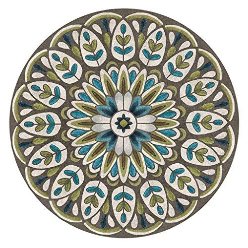 Decoratie, etnische stijl, Scandinavische stijl, rond, tapijt, woonkamer, salontafel, slaapkamer, mand, om op te hangen, tapijt, mand voor kinderen, raperpad, groen, maat: diameter 160 cm Diameter 200CM