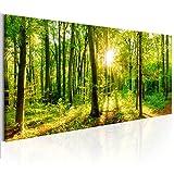 decomonkey Bilder Wald 150x50 cm XXL 1 Teilig