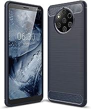 Nokia 9 PureView case, PUSHIMEI Soft TPU Brushed Anti-Fingerprint Full-Body Protective Phone Case Cover for Nokia 9 PureView Blue Nokia 9 PureView