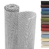 Smart Design Shelf Liner Premium Grip - (18 Inch x 8 Feet) - Drawer Cabinet Non Adhesive - Home & Kitchen [Cool Gray]