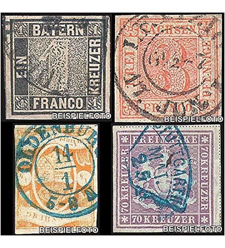 Goldhahn Set: Altdeutschland Raritäten gestempelt Briefmarken für Sammler