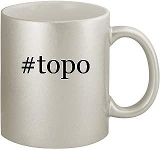 #topo - Ceramic Hashtag 11oz Silver Coffee Mug, Silver