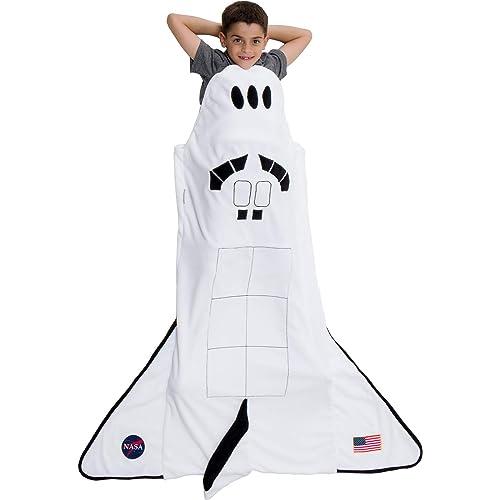 473565c4f92 Silver Lilly Spaceship Blanket - Plush Fleece Rocket Ship Sleeping Bag  Blanket for Kids