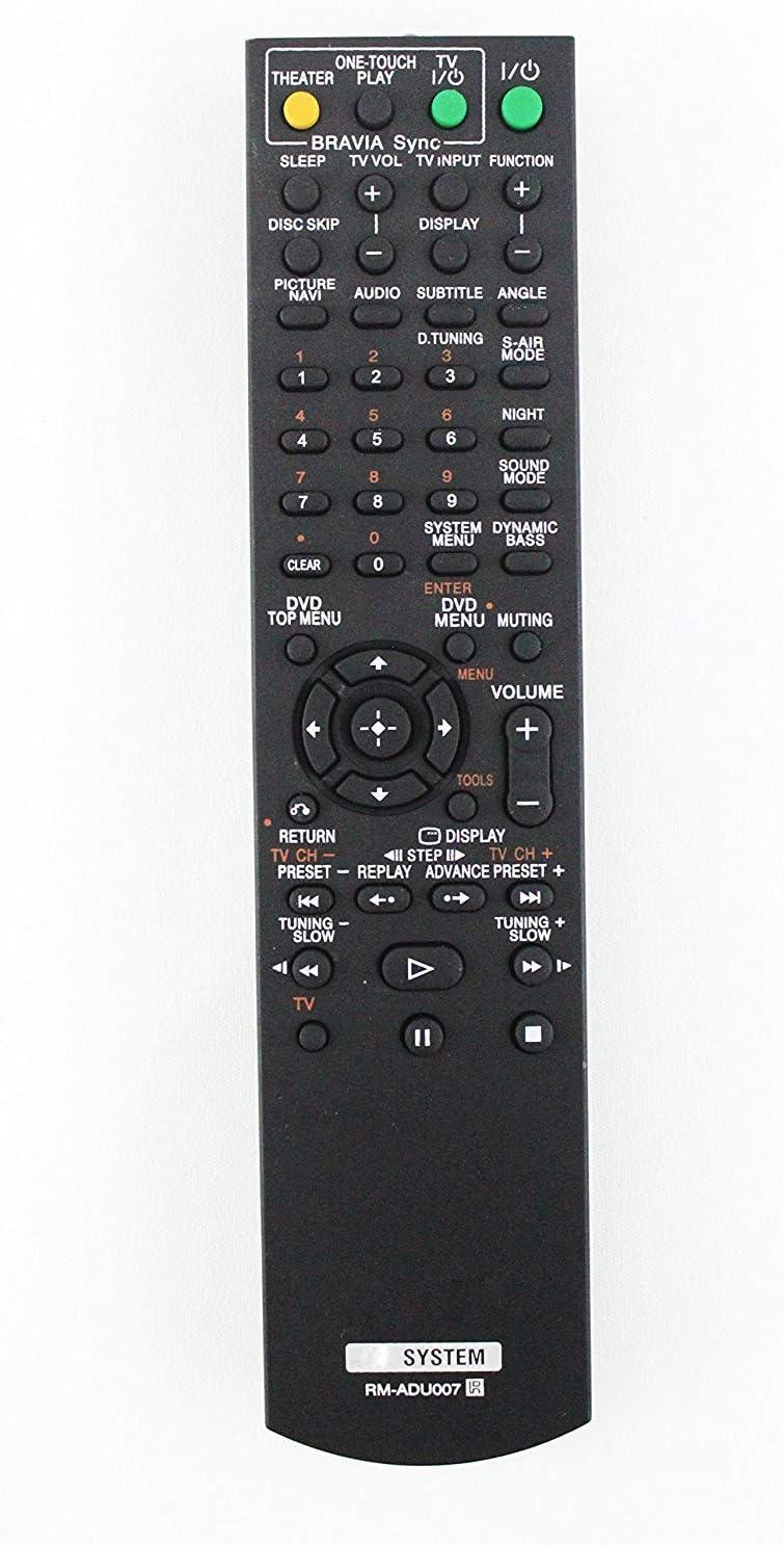 AV System Remote Control Compatible with Sony RM-ADU007 DAV-TZ13