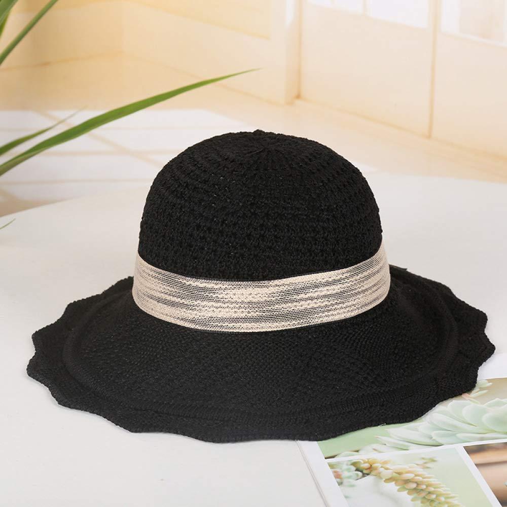 mlpnko Sombrero de Pescador Hueco Disfraz de Visera con Sombrero de Playa Plegable código Negro: Amazon.es: Hogar